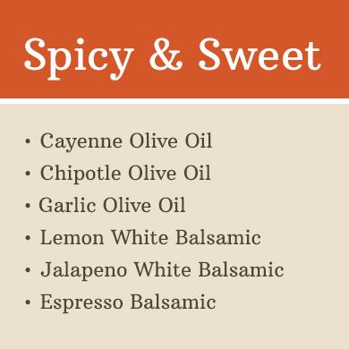Sampler 60 ml 6 Pack: Spicy & Sweet 1