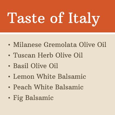 Sampler 60ml 6 Pack: Taste of Italy 1